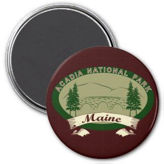 Parque nacional del Acadia de Maine Imán Redondo 7 Cm