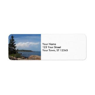 Parque nacional del Acadia, Maine Etiqueta De Remitente