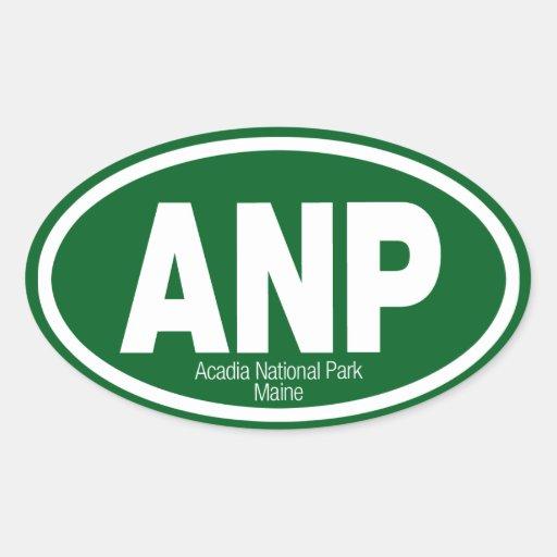 Parque nacional del Acadia Pegatina Ovalada