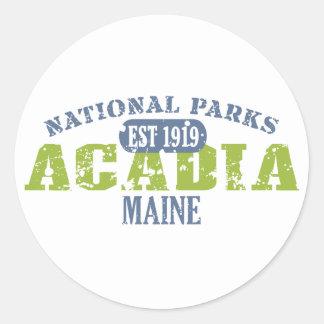 Parque nacional del Acadia Pegatina Redonda