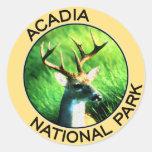 Parque nacional del Acadia Pegatinas Redondas