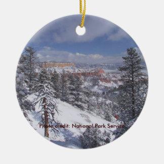 Parque nacional del barranco de Bryce Ornamento De Navidad