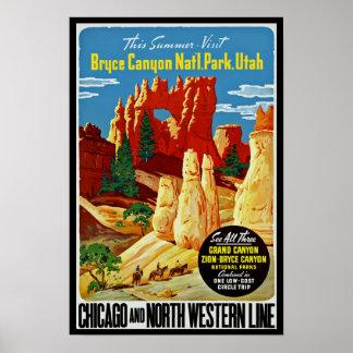 Parque nacional del barranco de Bryce Posters