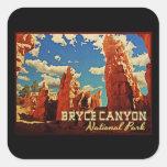 Parque nacional del barranco de Bryce Pegatinas Cuadradases Personalizadas