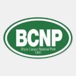 Parque nacional del barranco de Bryce Calcomanía Ovalada
