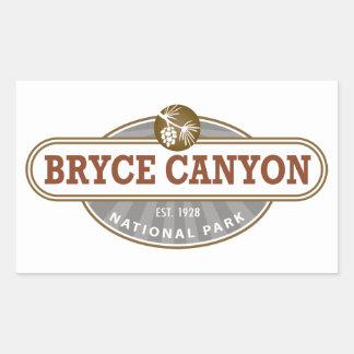 Parque nacional del barranco de Bryce Rectangular Pegatina