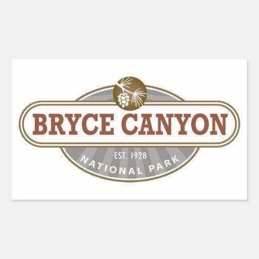 Parque nacional del barranco de Bryce Pegatina Rectangular