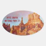 Parque nacional del barranco de Bryce Pegatina Ovaladas Personalizadas