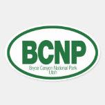 Parque nacional del barranco de Bryce Pegatina Ovalada