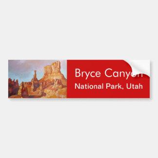 Parque nacional del barranco de Bryce Pegatina Para Auto