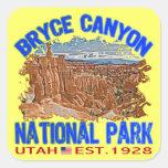 Parque nacional del barranco de Bryce, Utah Calcomania Cuadrada Personalizada