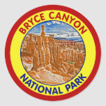 Parque nacional del barranco de Bryce, Utah Pegatina Redonda