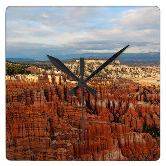 Parque nacional del barranco de Bryce, Utah Reloj Cuadrado