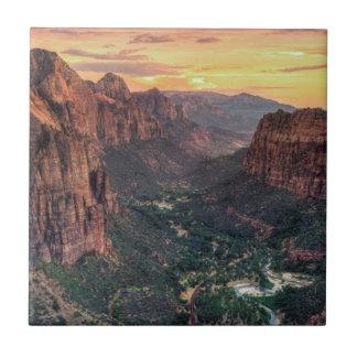 Parque nacional del barranco de Zion Azulejo Cuadrado Pequeño
