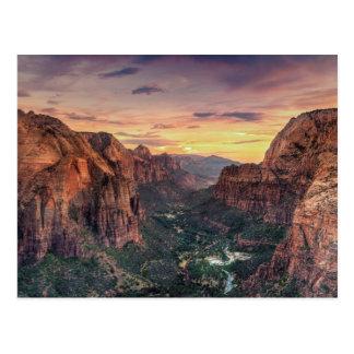 Parque nacional del barranco de Zion Postales