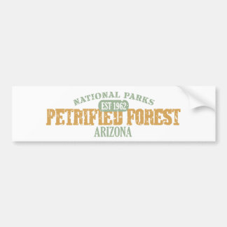 Parque nacional del bosque aterrorizado pegatina de parachoque