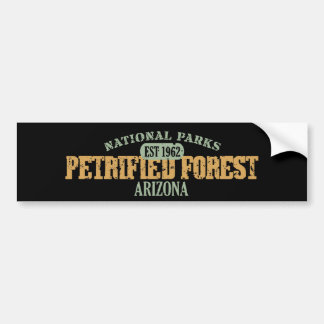 Parque nacional del bosque aterrorizado etiqueta de parachoque