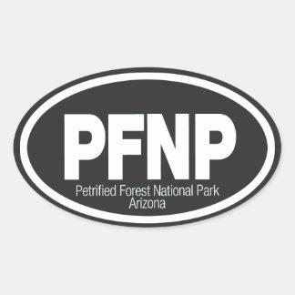 Parque nacional del bosque aterrorizado pegatina óval personalizadas