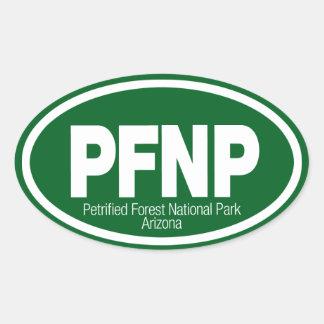 Parque nacional del bosque aterrorizado calcomanías de ovales personalizadas