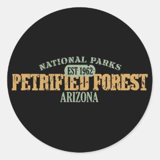 Parque nacional del bosque aterrorizado pegatina redonda