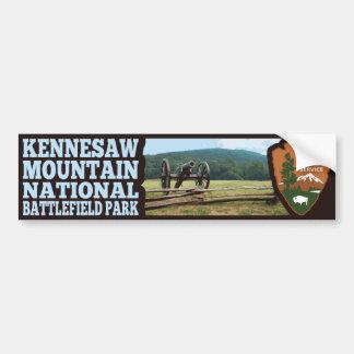 Parque nacional del campo de batalla de la montaña pegatina para auto