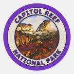 Parque nacional del filón del capitolio pegatinas redondas