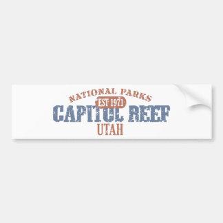 Parque nacional del filón del capitolio pegatina para auto