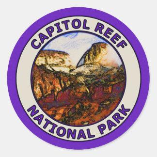 Parque nacional del filón del capitolio pegatina redonda