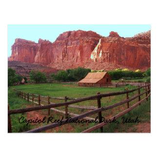 Parque nacional del filón del capitolio, Utah Postales