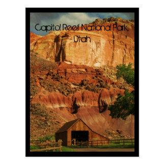Parque nacional del filón del capitolio, Utah Tarjeta Postal