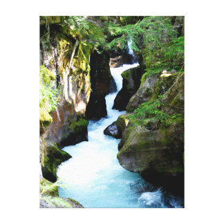 Parque nacional del Garganta-Glaciar de la avalanc Impresiones En Lona Estiradas
