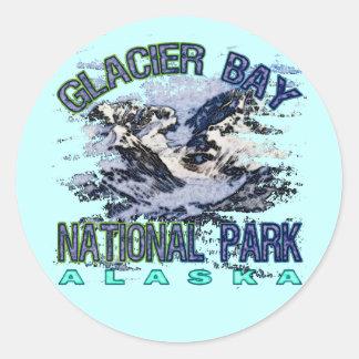 Parque nacional del Glacier Bay, Alaska Pegatina Redonda