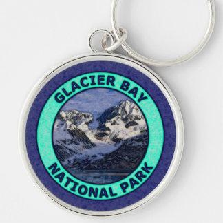 Parque nacional del Glacier Bay Llavero Redondo Plateado