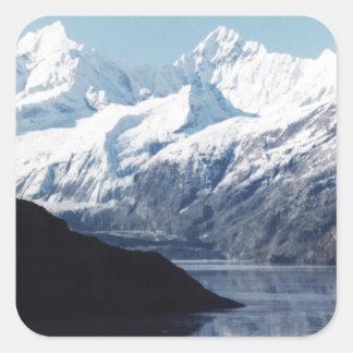 Parque nacional del Glacier Bay Pegatina Cuadrada