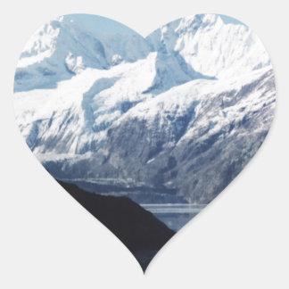 Parque nacional del Glacier Bay Pegatina En Forma De Corazón