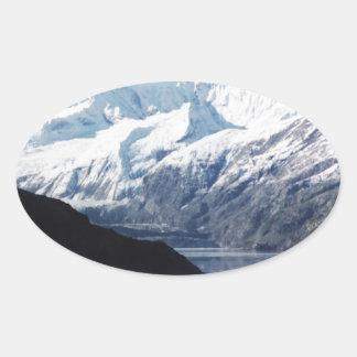 Parque nacional del Glacier Bay Pegatina Ovalada