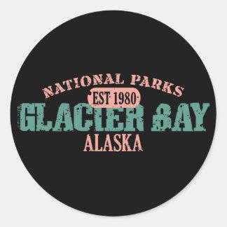 Parque nacional del Glacier Bay Pegatina Redonda