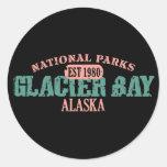 Parque nacional del Glacier Bay Pegatinas Redondas