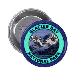 Parque nacional del Glacier Bay Pin Redondo De 2 Pulgadas