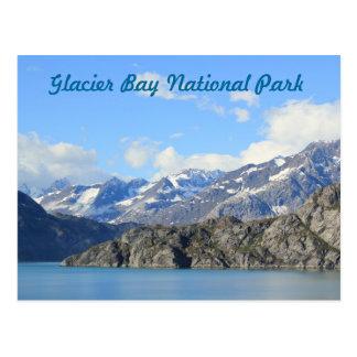 Parque nacional del Glacier Bay, postal de Alaska