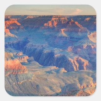 Parque nacional del Gran Cañón, AZ Pegatina Cuadradas Personalizadas