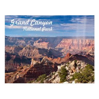 Parque nacional del Gran Cañón durante un Postal