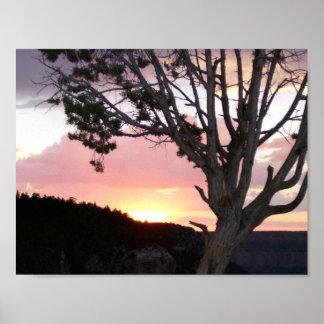 Parque nacional del Gran Cañón en la puesta del Póster