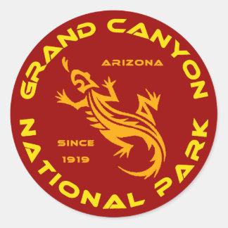 Parque nacional del Gran Cañón Etiqueta Redonda