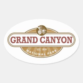 Parque nacional del Gran Cañón Pegatinas Oval Personalizadas