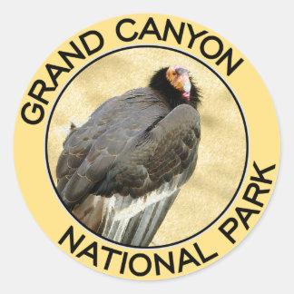 Parque nacional del Gran Cañón Pegatina Redonda