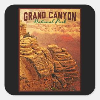 Parque nacional del Gran Cañón Calcomania Cuadradas Personalizada