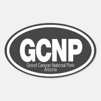 Parque nacional del Gran Cañón Pegatina Óval