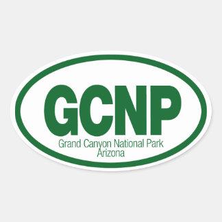 Parque nacional del Gran Cañón Pegatina Ovalada