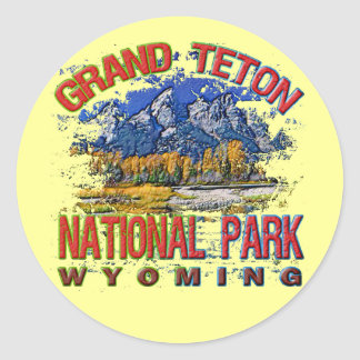 Parque nacional del Gran Cañón, Wyoming Pegatinas Redondas